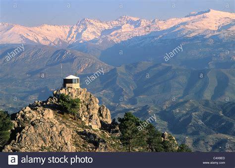 View from Sierra de Huetor towards the summits of Alcazaba ...
