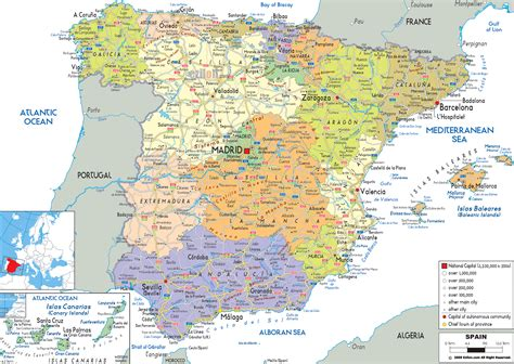 view: MAP OF SPAIN