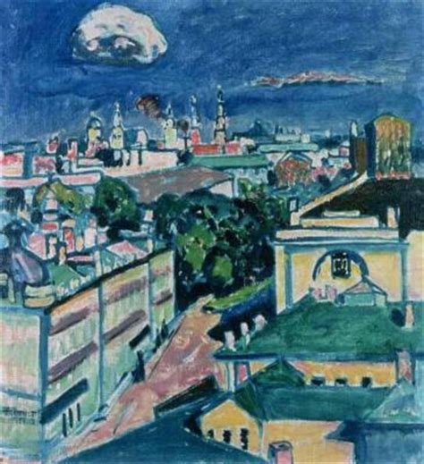 View of Moscow - Kandinsky Art Print, Canvas