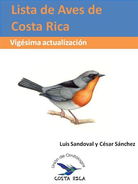Vigésima actualización de la Lista de Aves de Costa Rica ...