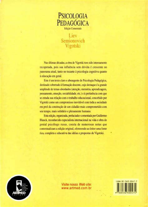 Vigotski L S   Psicologia pedagogica   Psicologia