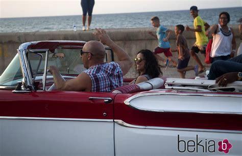 Vin Diesel y Michelle Rodriguez se divierten en el rodaje ...