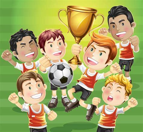 Vinilo Pixerstick Niños campeón de fútbol con los ...