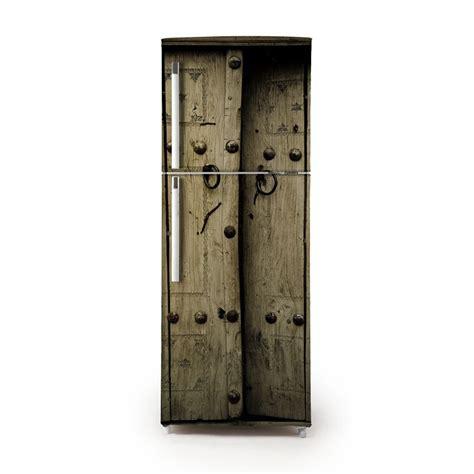 vinilo puerta rústica para frigorífico