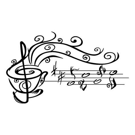 Vinilo Taza de Café con Notas Musicales | Galletas ...