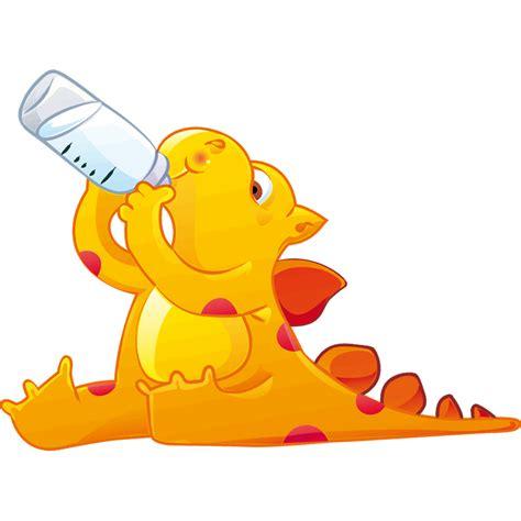 Vinilos Infantiles: Dinosaurio naranja | LeoStickers