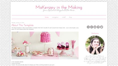 vintage chic modern blogspot template pink | BD Web Studio
