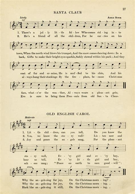 Vintage Christmas Sheet Music ~ Free Download | Old Design ...