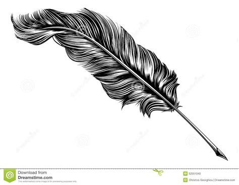Vintage Feather Quill Pen Illustration Stock Vector ...