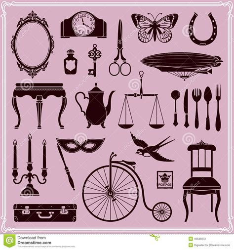 Vintage Objects And Icons Set 2 Stock Vector - Image: 49535073
