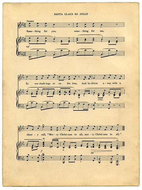 Vintage Printable   Christmas Sheet Music   Santa   The ...