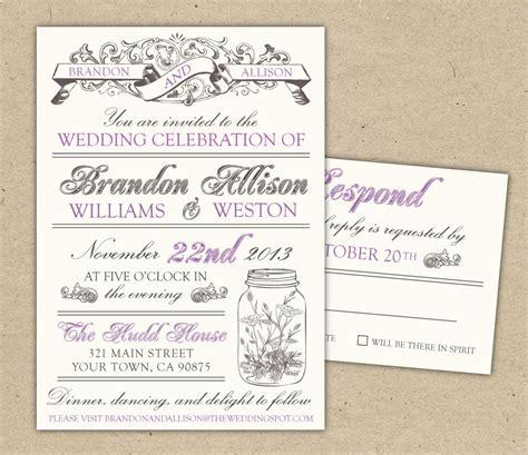 Vintage Wedding Invitations Template | Best Template ...