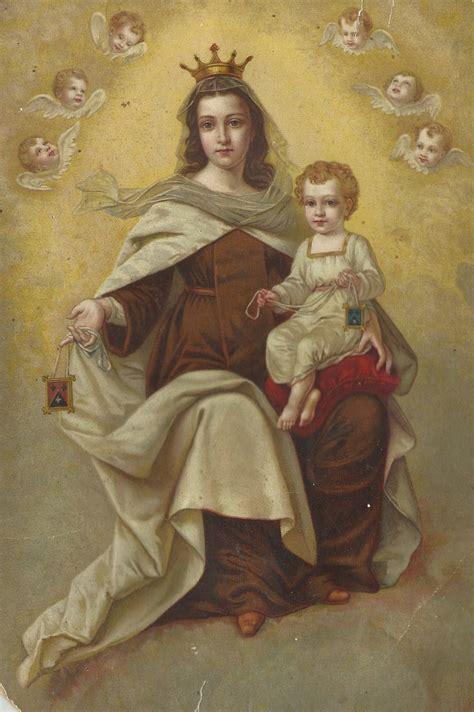 Virgen del Carmen. LVA-58 | Estampas de la Virgen | Pinterest