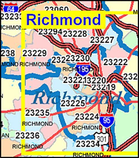 Virginia ZIP Code Map including County Maps