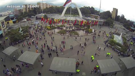 Vista aérea de los puestos de votación   Bogotá   YouTube