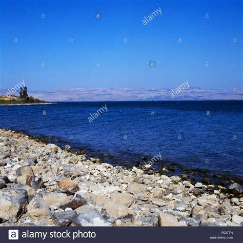 Vista del lago Tiberíades, también Kinneret, el lago de ...