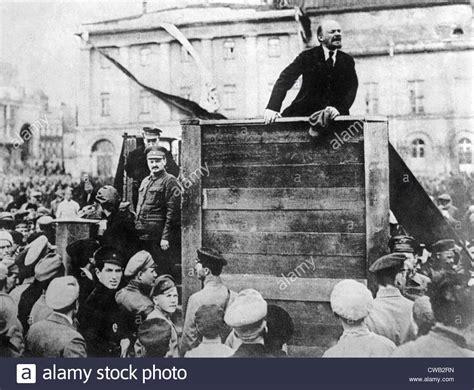 Vladimir Ilyich  aka Nicolei  Lenin delivers a speech ...