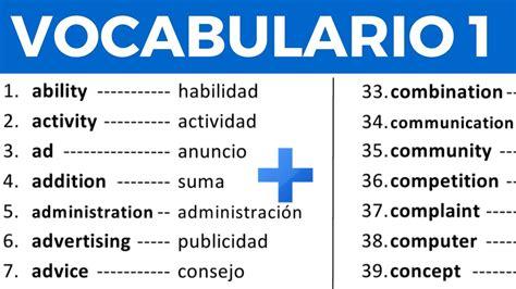Vocabulario en inglés con pronunciación lección 1 de 8 ...