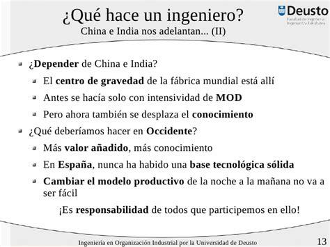Voy a ser Ingeniero en Organización Industrial