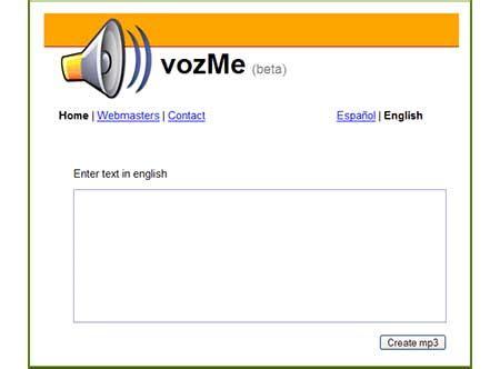 Vozme… un conversor de texto a voz on line | NoticiasTech