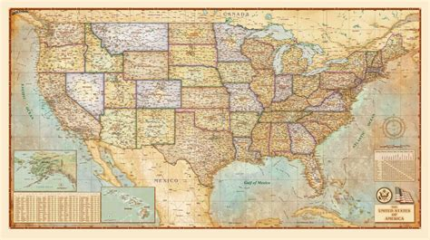 Wall Map Of United States   Kolovrat.org