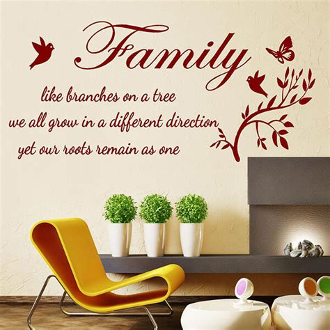 Wall Quote FAMILY LIKE BRANCHES ON A TREE Wall Sticker ...
