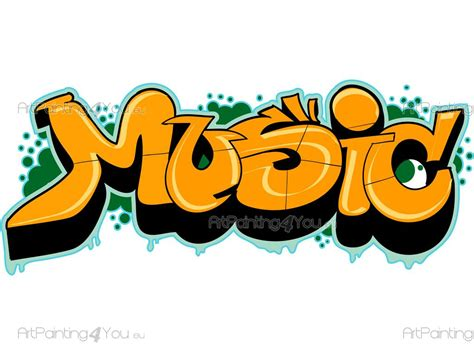 Wall Stickers Quotes Graffiti Music | ArtPainting4You.eu ...