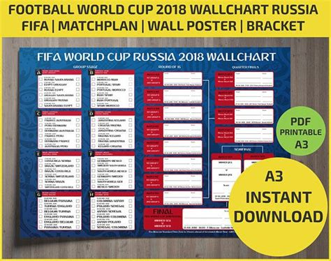 Wallchart FIFA 2018 World Cup Russia PDF / Printable ...