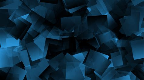 Wallpaper Shapes, Squares, Blue, 4K, Abstract, #7522