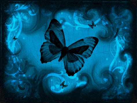 wallpapers: Blue Butterfly Art Wallpapers