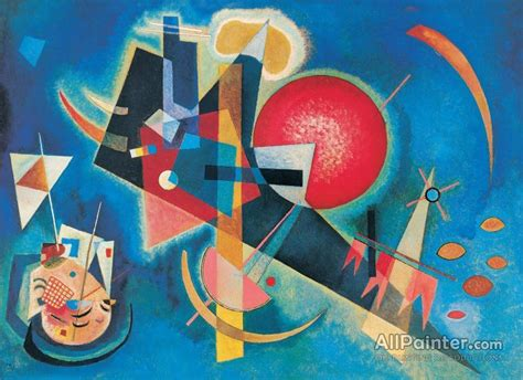 Wassily Kandinsky In Blue Oil Painting Reproductions for ...