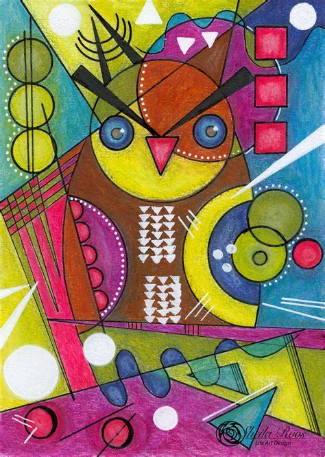 Wassily Kandinsky inspiration – Owl • Life Art Design