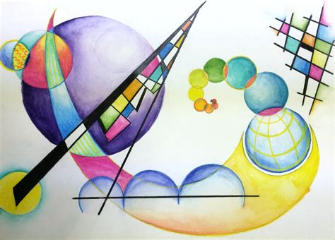 Wassily Kandinsky Non-Objective Color Pencil and ...