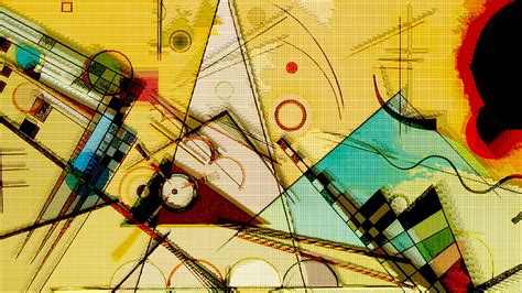 Wassily Kandinsky, Painting, Abstract, Circle, Triangle ...