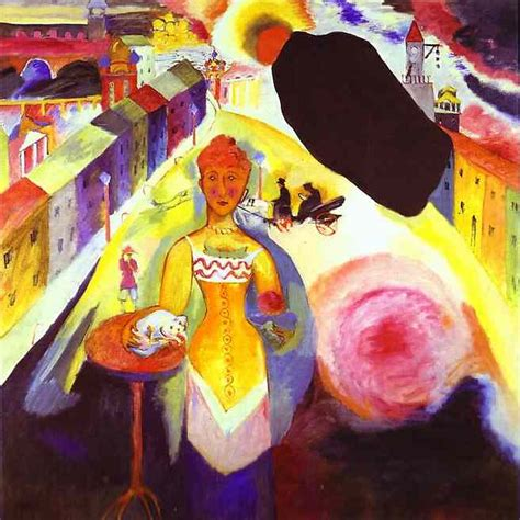 Wassily Kandinsky — Lady in Moscow, 1912