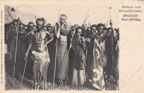 Watusi and Warundi Leute tribes Tanganyika 1917 | Histoire ...