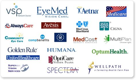 We accept most major vision plans including VSP, EyeMed ...