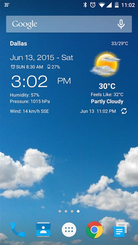 Weather & Clock Widget for Android   Android Apps on ...