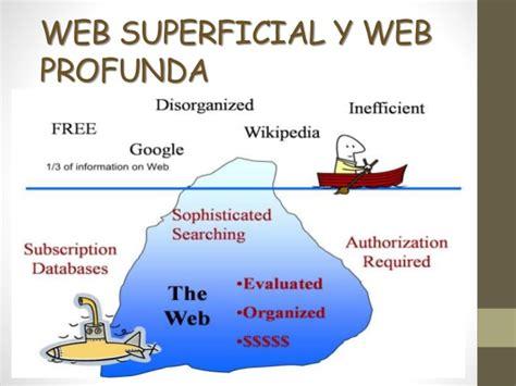 Web superficial y web profunda