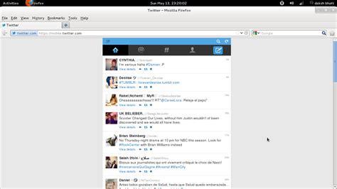 Web Updates: How Twitter mobile looks in Firefox 12