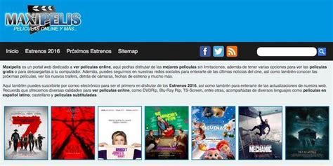 Webs Para Ver Peliculas Online Gratis Sin Registrarse ...