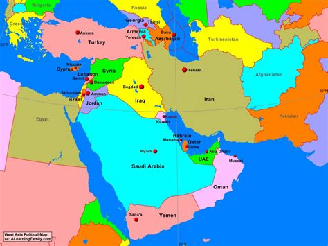 West Asia: Political Map - A Learning Family