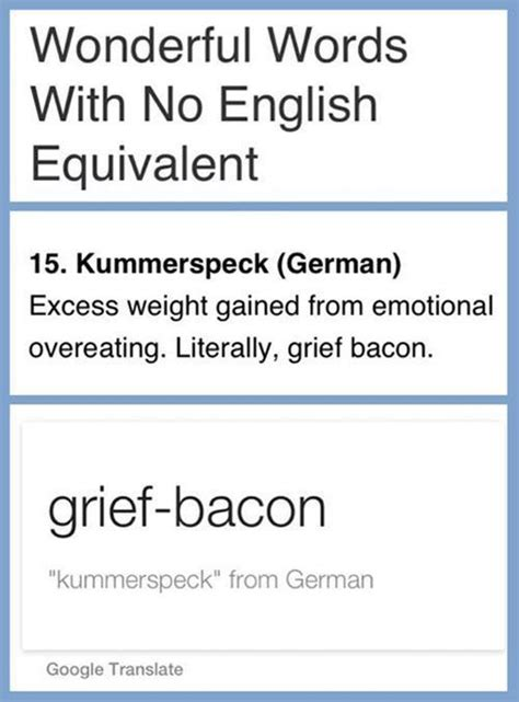 What Does Kummerspeck Mean in English? | Best Funny Pictures