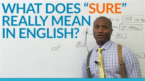 What does the word 'SURE' really mean in English? - YouTube