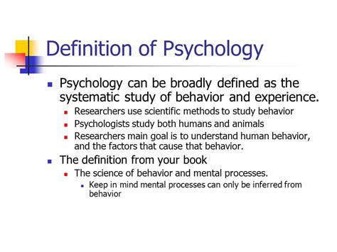 What is Psychology? Definition of psychology - ppt video ...