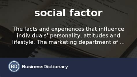 What is social factor? definition and meaning ...