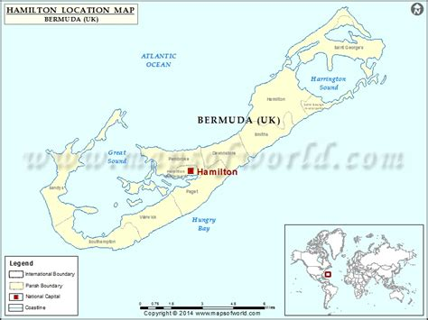 Where is Hamilton | Location of Hamilton in Bermuda Map