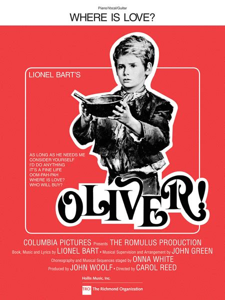 Where Is Love? (from Oliver!) Sheet Music - Sheet Music Plus