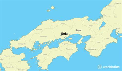 Where is Soja, Japan? / Soja, Okayama Map - WorldAtlas.com
