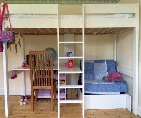 White Loft Bunk Bed with Desk Underneath – Home ...